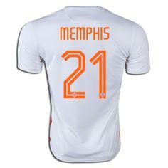 2015/16 Netherlands Memphis Depay 21 Away Soccer Jersey