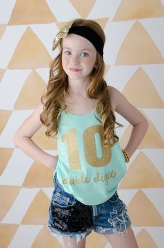 Girls Tank Top Girls Glitter Shirt Girls Personalized by madgrrl