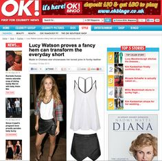 Coverage from OK Magazine September issue. #coverage #fashion #style #celebrity #lucywatson #stylesteal