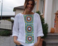 Granny-Summer-Shirt (Oversize S/M und L/XL - leicht an alle Größen anzupassen)