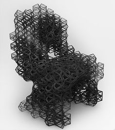 'de optimised chair' by daniel widrig Cad Cam, Parametric Design, Fractal Design, All Art, Fractals, 3d Printing, Furniture Design, Sculpture, Bending