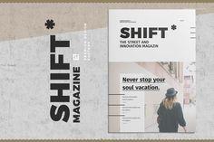 """Popatrz na ten projekt w @Behance: """"Shift Magazine"""" https://www.behance.net/gallery/44858116/Shift-Magazine"""