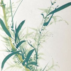Bamboo Chinese Scroll Painting Art on Rice Paper by MoyanFineArt