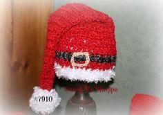 Santa Hat  16 inch deep red  baby Santa hat Santa's belt in by SweetTsShoppe, $18.95