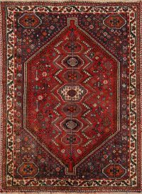 Rug Source One-of-A-Kind Shiraz Tribal Hand Made Red Wool Antique Persian Oriental Area Rug X Square Rugs, Natural Area Rugs, Area Rug Sizes, Buy Rugs, Cool Rugs, Persian Rug, Handmade Rugs, Colorful Rugs, Bohemian Rug