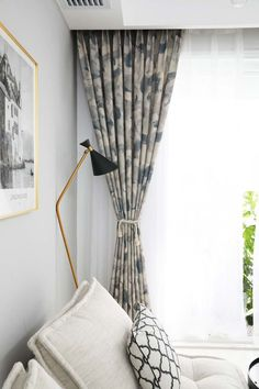 Modern curtain ink series of cotton and linen for bedroom Source by homelavade Modern Curtains, Linen Curtains, Retro Stil, Ink, Bedroom, Cotton, Home Decor, Living Room, Modern Patterns