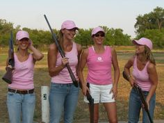 all girls team for trap shooting - so much fun - pink does ;)
