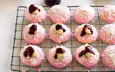 Raspberry lamington cookies