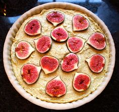Frangipane Tarts: Another variant - pistachio frangipane and figs, delicately tinted and scented - a great variation!