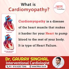 Cardiomyopathy is a disease of the heart muscle that makes it harder for your heart to pump blood to the rest of your body. It is a type of heart failure. Cardiac Assessment, Hypertrophic Cardiomyopathy, Natural Remedies For Migraines, Cardiac Nursing, Normal Heart, Heart Muscle, Heart Failure, Nursing Notes, Good Heart