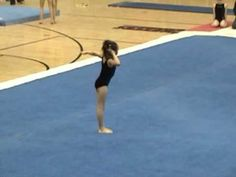 Tiny 9 Year Old Gymnast Lizzy LeDuc at the Level 7 State Championships (Jr A) 2009