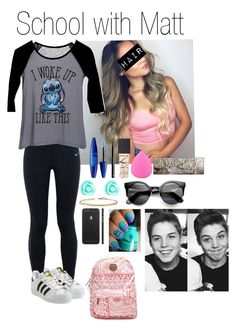 """""""School with Matt Espinosa"""" by cczbeauty ❤ liked on Polyvore featuring NIKE, dELiA*s, Maybelline, H&M, NARS Cosmetics, Zodaca, Urban Decay, Monsoon, Sydney Evan and adidas Originals"""