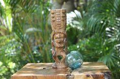 "Hurricane Tiki Totem 8"" Natural - Hawaiian Tiki Bar Decor"