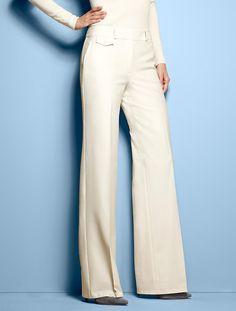 Talbots - Heritage Fit Refined Bi-Stretch Wide Leg Pants