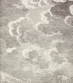 Nuvolette Wallpaper An etched cloud design wallpaper in black on white. This wall art comes as a set of two rolls.:
