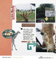 Safari Zoo digital scrapbook layout using Project Mouse (Animal) | Artsy & Pins by Britt-ish Designs and Sahlin Studio