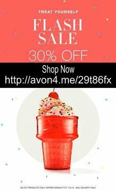 I scream, You scream, We all scream for - FLASH SALE!!!! Come see these select Avon favorites on sale for 30% Off!!! http://avon4.me/29t86fx   #Avon #AvonRep #Savings #FlashSale #AvonSale #ShopAvon
