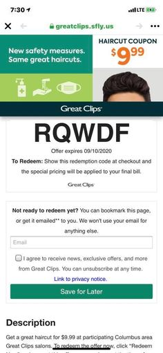 6.99 Great Clips Coupon 2020   Great Clips Coupons   Great Clips Coupon 2020 Great Clips Haircut, Great Haircuts, Free Printable Coupons, Free Coupons, Haircut Coupons, Great Clips Coupons, John Bishop, Free Haircut, What Is Great