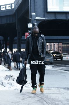 Virgil Abloh reppin' his new line Off-White