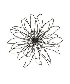 Though sturdily constructed from metal, this charming floral piece captures all the delicate whimsy and natural inspiration of a spring blossom swaying in the breeze.3.72'' H x 19.92'' diameterMetalImported