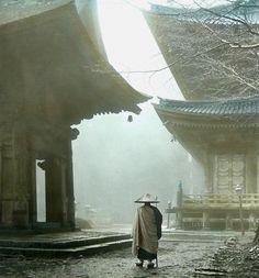 Mount Hiei, Kyoto - Japan Il Monte Hiei (比叡山, Hieizan) è una montagna situata in Giappone, a nord-est di Kyōto, si erge al confine tra la prefettura di Kyōto e la prefettura di Shiga. Alta 848 metri, ha posseduto e possiede un significato simbolico molto importante per la Storia e la cultura giapponese, essendo luogo di divinità shintoiste e sede del principale monastero della scuola buddhista giapponese Tendai, l'Enryaku-ji.
