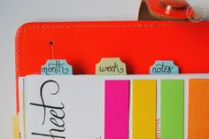 Dividing your planner into sections make it easy to find exactly what you need in seconds!