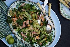 Tandoori smoked salmon and brown rice salad