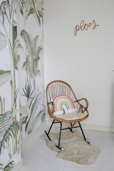 pics by interiorjunkie Creative Labs, Bugaboo, Room Inspiration, Baby Room, Nursery Decor, Amsterdam, Accent Chairs, Wallpaper, Bananas