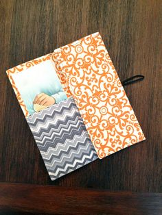 TriFold Tract Holder Orange Ornate by mtayloredmade on Etsy