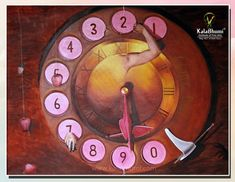This art piece is an original and unique creation, one-of-a-kind, and 100% hand-painted by Kalabhumi. Creative semi-realistic watch Painting  Masterpiece Artist Canvas... best art technique in Oil on Canvas. Know more about fine arts technique call @+91-9868214044  #lockdownpaintingcourse #onlineclasseskalabhumi #paintingcourses #bestfineartscourses #diplomainfinearts #fineartsinstituteindelhi #oilpaintingclasses #acrylicpaintingclasses #tutorialforbfa #latestwatchdesign #covid19  #finearts Painting Courses, Art Courses, Oil Painting Abstract, Watercolor Paintings, Artist Canvas, Art Techniques, All Art, Oil On Canvas, Art Pieces
