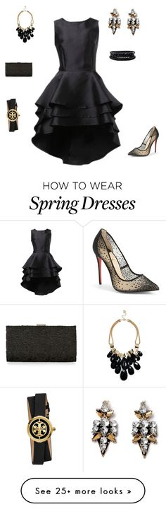"""Untitled #211"" by keishaanngraham on Polyvore featuring Christian Louboutin, Monsoon, GUESS, Spring Street and Tory Burch"