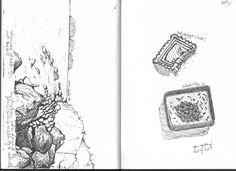 fineliner sea landscape exercise on textures via skillshare