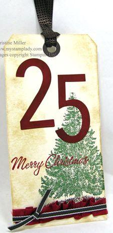 Christmas Tree Single Stamp