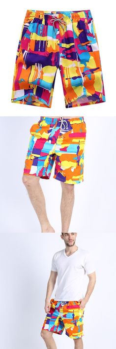fb79ae795a5aa Man's New Arrival Trendy Ink Painting Style Beach Swimming Shorts. Men  SwimwearInk ...