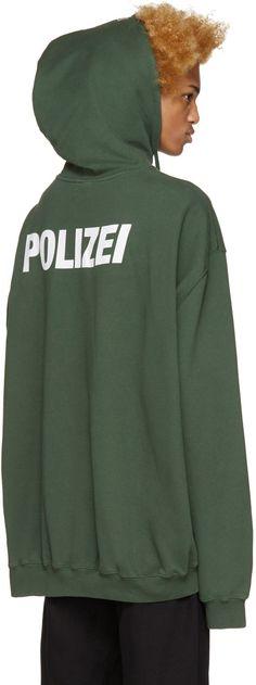 Vetements - Green Polizei Hoodie