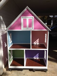 Our doll houses are custom made for each customer. The houses are perfect for playing with and displaying 18 dolls such as ones from