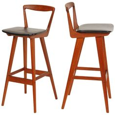 Danish Bar Stools | From a unique collection of antique and modern stools at https://www.1stdibs.com/furniture/seating/stools/