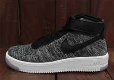 """Nike Air Force 1 Mid Flyknit """"Oreo""""   SneakerNews.com"""