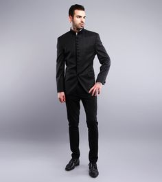 Study By Janak - Black Poly Wool Suit CLICK ON THE PHOTO TO SHOP!