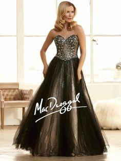 Sparkling Black Prom Dress | Ball Gown | Mac Duggal 48249H