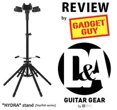 See what national syndicated technology columnist David Novak says about the D&A HYDRA triple guitar stand!! Only at GADGET GUY  (www.GadgetGuyColumn.com) ...click the pic to read the review >>>