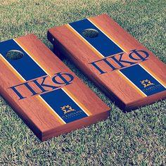 Pi Kappa Phi Cornhole Set from Victory Tailgate. Buy it on the FindGreek app! https://findgreek.com/download #findgreek