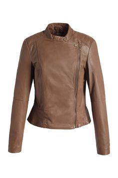 #Esprit leather #jacket with zips