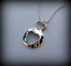 Heart kettlebell necklace, silver, crossfit | designsbydomino - Jewelry on ArtFire