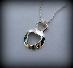 Heart kettlebell necklace, silver, crossfit | designsbydomino - Jewelry on ArtFire