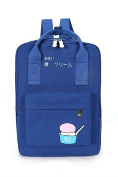 179dfb1dad Harajuku Royal Blue Ice Cream Backpack  backpacks  newacc Backpacking Gear