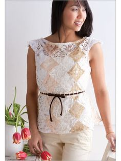 Sew this adorable Patchwork Lace Top today! You'll love all your lace options.