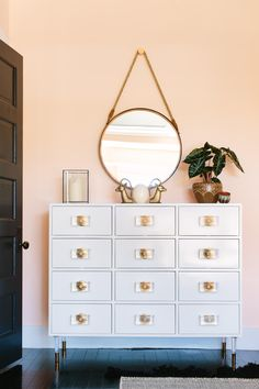 Peachy morning glow. Wonder what this color is  - ELLEDecor.com