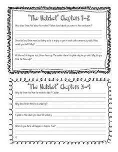 Imagery Lesson Activity for Hatchet by Gary Paulsen | Texts ...