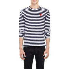 PLAY by Comme des Garçons Striped Long-Sleeve T-shirt at Barneys.com